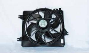 1996-2000 Hyundai Elantra Radiator Cooling Fan Assembly