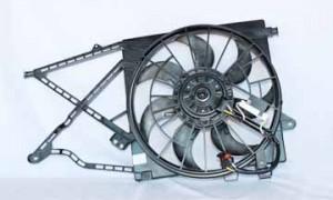 2000-2005 Saturn L Radiator Cooling Fan Assembly