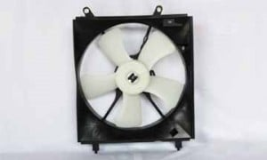 1997-1999 Toyota Camry Radiator Cooling Fan Assembly (V6 / USA Built / Left Side)
