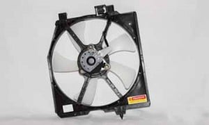 1995-1998 Mazda Protege Condenser Cooling Fan Assembly