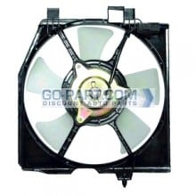 1999-2000 Mazda Protege Condenser Cooling Fan Assembly