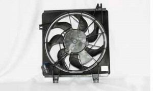 2000-2004 Kia Spectra Condenser Cooling Fan Assembly