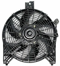 2004-2006 Nissan Titan Pickup Condenser Cooling Fan Assembly