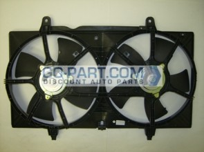 2002-2006 Nissan Altima Radiator Cooling Fan Assembly (2.5L)