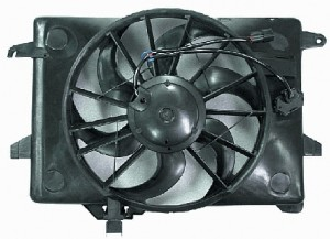 2000-2002 Lincoln Town Car Radiator Cooling Fan Assembly