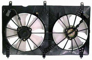 2003-2007 Honda Accord Radiator Cooling Fan Assembly (4 Cylinder / Coupe / Sedan / Valeo)