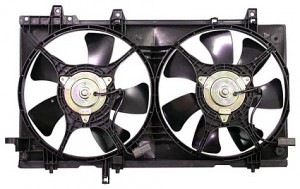 2003-2008 Subaru Forester Radiator Cooling Fan Assembly (Without Turbo)