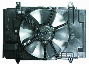 2007-2011 Nissan Versa Radiator Cooling Fan Assembly