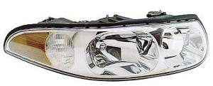 2000-2005 Buick LeSabre Headlight Assembly (with Corner & Marker Lamp / Custom / with Fluted High Beam Surface) - Right (Passenger)