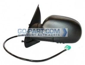 2004-2007 Buick Rainier Side View Mirror (Foldable / Heated / Power Remote / without Dimmer / Black) - Left (Driver)