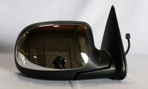 1999-2002 Chevrolet Chevy Silverado  Side View Mirror (Standard Style / Power Remote / Heated / Chrome) - Right (Passenger)