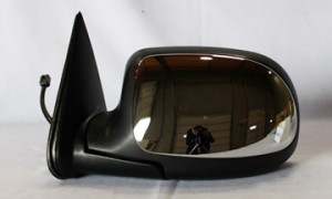 1999-2000 GMC Sierra Side View Mirror (Standard Style / Power Remote / Heated / Bright) - Left (Driver)