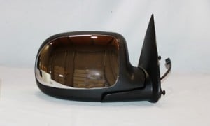 1999-2002 Chevrolet Chevy Silverado  Side View Mirror (Standard Style / Power Remote / Non-Heated / Chrome) - Right (Passenger)