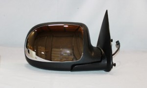 1999-2002 GMC Sierra Side View Mirror (Standard Style / Power Remote / Non-Heated / Bright) - Right (Passenger)
