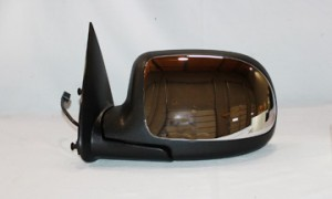 1999-2002 GMC Sierra Side View Mirror (Standard Style / Power Remote / Non-Heated / Bright / with RPO D48)- Left (Driver)