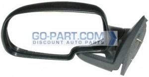 2000-2006 GMC Yukon XL Side View Mirror (Standard Style / Manual / Textured Matte Black) - Left (Driver)