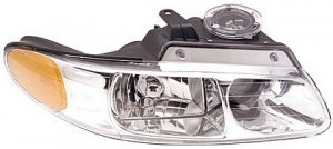 1996-1999 Plymouth Voyager Headlight Assembly (with Quad Headlamps) - Right (Passenger)
