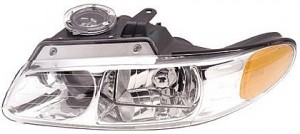 1996-1999 Plymouth Voyager Headlight Assembly (with Quad Headlamps) - Left (Driver)