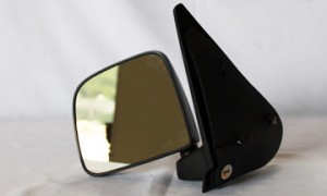 1998-2002 Mazda B2500 Side View Mirror (Non-Heated / Manual / Post-mount / Textured Black- Left (Driver)
