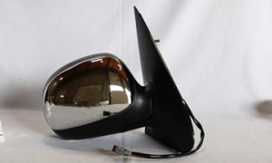 1997-2002 Ford Expedition Side View Mirror (Power Remote / Heated / without Signal Lamp / Chrome) - Right (Passenger)