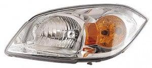2005-2010 Chevrolet Chevy Cobalt Headlight Assembly (Base Model LS/LT; w/ Yellow Turn Signal) - Left (Driver)