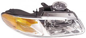 1996-1999 Plymouth Voyager Headlight Assembly (without Quad Headlamps) - Right (Passenger)