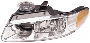 2000-2000 Dodge Caravan Headlight Assembly (with Quad Headlamps - Left (Driver)