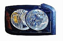 2006-2007 Dodge Dakota Headlight Assembly (With Black Bezel) - Right (Passenger)
