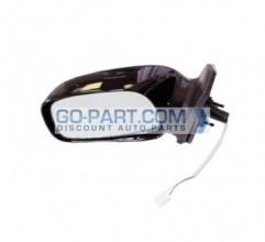 2003-2008 Toyota Corolla Side View Mirror (Non-Heated / Power Remote / Non-Folding / Black / Corolla LE/S) - Left (Driver)