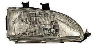 1992-1995 Honda Civic Headlight Assembly - Right (Passenger)