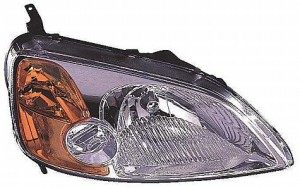 2001-2003 Honda Civic Headlight Assembly (Coupe) - Right (Passenger)