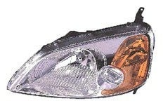 2001-2003 Honda Civic Headlight Assembly (Coupe) - Left (Driver)
