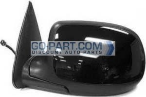 2002-2002 Chevrolet Chevy Avalanche Side View Mirror (Heated Power Remote / Manual Folding / without Puddle Lamp) - Left (Driver)