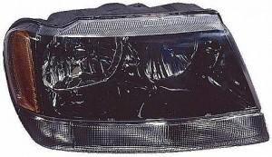 2002-2003 Jeep Grand Cherokee Headlight Assembly (Grand Cherokee Laredo/Sport / Fromt 1/14/02) - Right (Passenger)