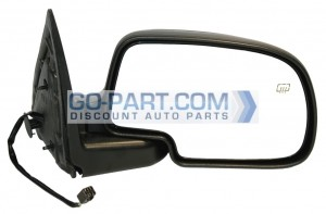 1999-2002 GMC Sierra Side View Mirror (Standard Style / Power Remote / Heated) - Right (Passenger)