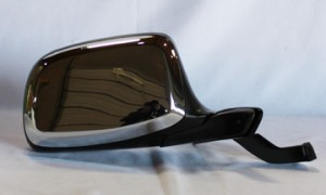 1992-1997 Ford F-Series Pickup Side View Mirror (Manual / Paddle Design / Black  & Chrome) - Right (Passenger)
