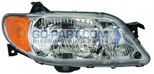 2001-2003 Mazda Protege Headlight Assembly (Sedan / with Aluminum Bezel) - Right (Passenger)