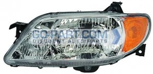 2001-2003 Mazda Protege Headlight Assembly (Sedan / with Aluminum Bezel) - Left (Driver)