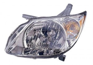 2005-2008 Pontiac Vibe Headlight Assembly - Left (Driver)