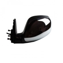 2000-2004 Toyota Tundra Pickup Side View Mirror (Nonheated Power Remote / Black with Chrome Housing  / SR5) - Left (Driver)