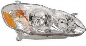 2003-2004 Toyota Corolla Headlight Assembly (S Model) - Right (Passenger)