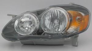 2005-2008 Toyota Corolla Headlight Assembly (S/XRS / USA) - Left (Driver)
