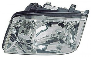 1999-2002 Volkswagen Jetta Headlight Assembly (without Fog Lamps / with Chrome Bezel Lens / without Turbo) - Left (Driver)