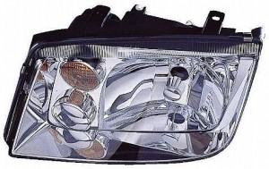2002-2005 Volkswagen Jetta Headlight Assembly (1.9/ 2.0/ 2.8L / without Fog Lamps / without Turbo) - Left (Driver)