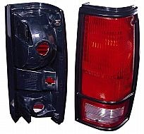1982-1993 Chevrolet Chevy S10 Pickup Tail Light Rear Lamp (with Black Bezel Lens) - Right (Passenger)