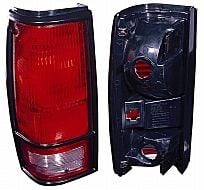 1982-1993 Chevrolet Chevy S10 Pickup Tail Light Rear Lamp (with Black Bezel Lens) - Left (Driver)