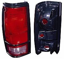 1982-1993 GMC Sonoma Tail Light Rear Lamp (with Black Bezel) - Left (Driver)