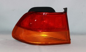 1996-1998 Honda Civic Tail Light Rear Lamp (Coupe / Body Mounted) - Left (Driver)
