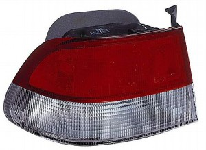 1999-2000 Honda Civic Tail Light Rear Lamp (Coupe / Body Mounted) - Left (Driver)