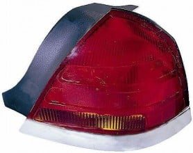 1999-2000 Ford Crown Victoria Tail Light Rear Lamp (with 4 Bulb Lamp) - Right (Passenger)